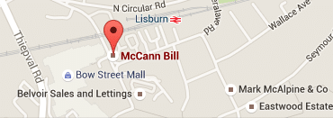 Bill McCann Estate Agency Lisburn Branch Map